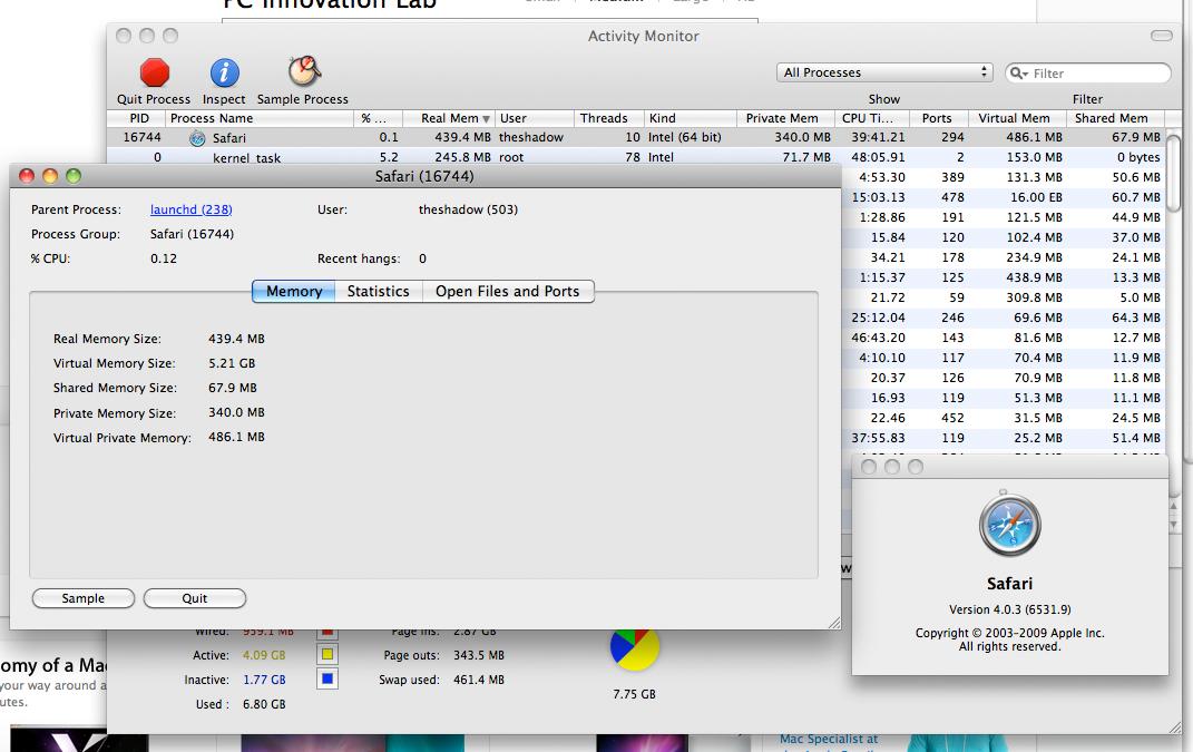 Inactive Memory Leak In Safari 4 0 3 Apple Community