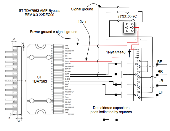 radio_amp_tap3 howto aux in for your v50, basic sound system page 12 volvo xc90 stereo wiring diagram at alyssarenee.co